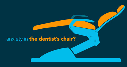Anxiety in the dentist's chair graphic