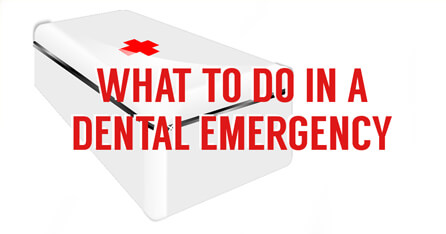 Dental emergency graphic