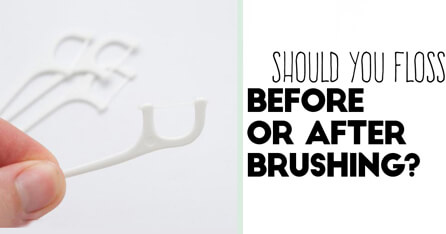Floss before or after graphic