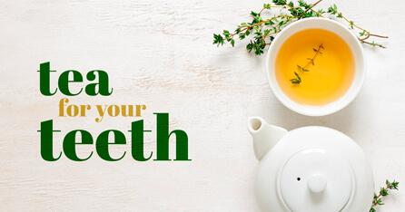 Tea for teeth graphic