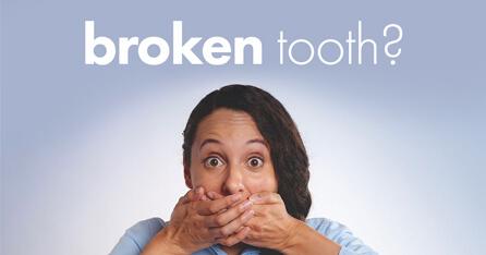 Treating broken teeth graphic
