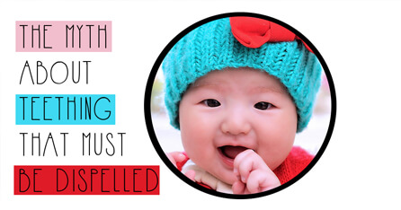 Teething myths graphic