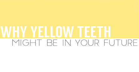Yellow teeth future graphic